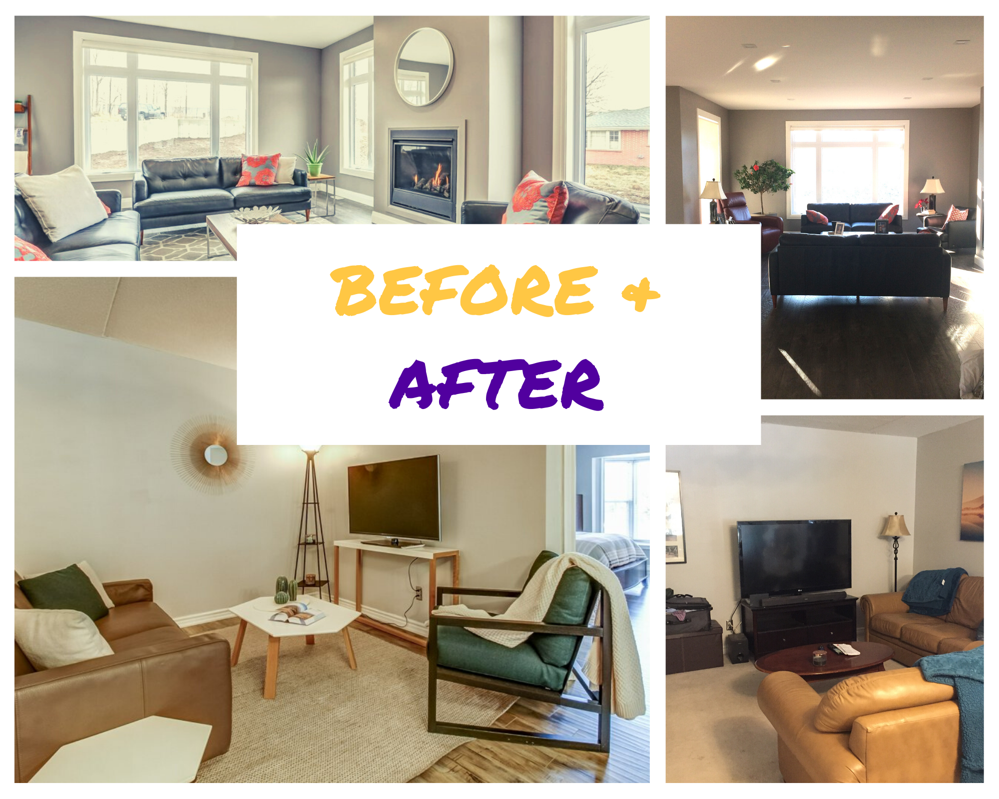 Photos That Show The Power Of Home Staging, Living Room Staging A House Before And After
